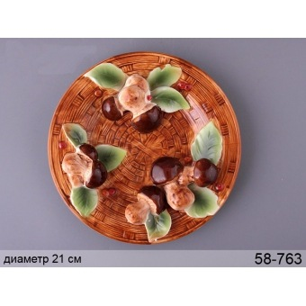 Декоративная тарелка Грибная поляна