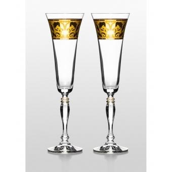 Victoria набор бокалов для шампанского (Rene золото) 2 шт. (02-03-180-2-013)
