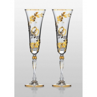 Victoria набор бокалов для шампанского Medea Gold (2 шт)