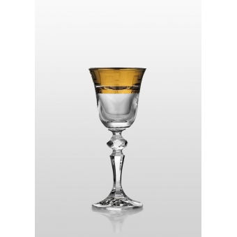 Christine набор рюмок для водки и ликера (Kostka золото) 6 шт