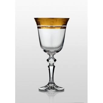 Christine набор бокаловов для вина 220 мл (Kostka золото) 6 шт.