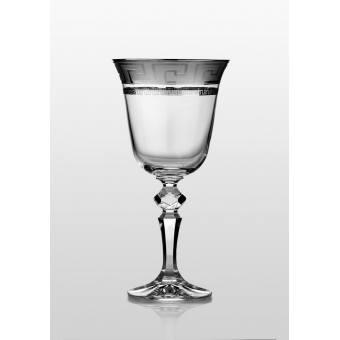 Christine набор бокаловов для вина 220 мл (Kostka платина) 6 шт.