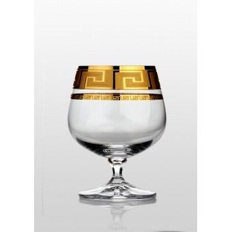 Christine набор бокаловов для коньяка (Kostka золото) 6 шт.