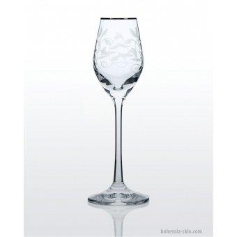 Viola набор рюмок для водки и ликера (Lido платина) 6 шт.