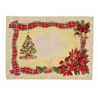 Салфетка под тарелку гобеленовая новогодняя (063-012)