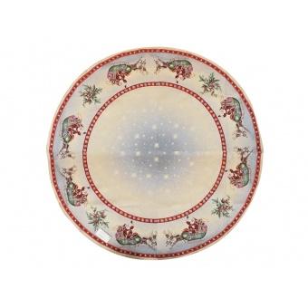 Скатерть гобеленовая новогодняя круглая (063-015)