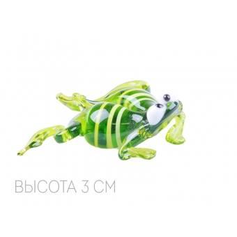 Декоративное изделие из стекла плавающая лягушка