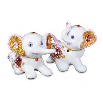 Комплект фигурок декоративных слоники, 2 шт.