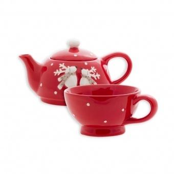 Набор для чаепития заварочный чайник с чашкой Олени (106661)