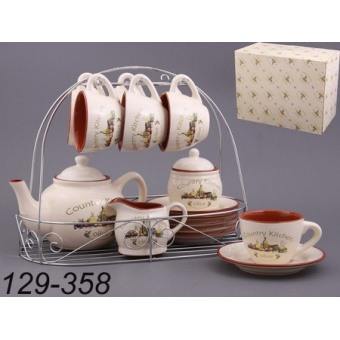 Чайный набор на подставке Прованс