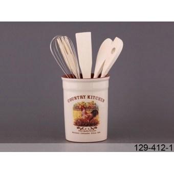 Подставка для кухонных принадлежностей Вкусное утро (129-412-1)