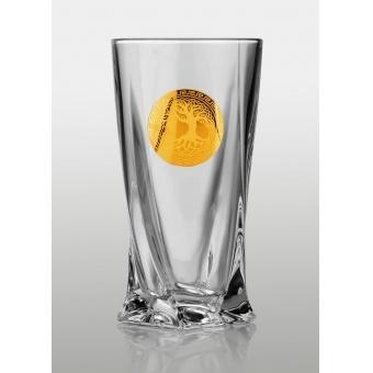 Quadro набор стакановов для напитков (Edem золото) 340 мл-6 шт.