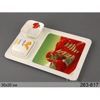 Блюдо с соусником и масленкой (263-617)