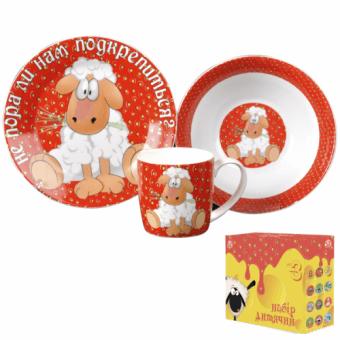 Детский набор посуды Овечка (5132-11)