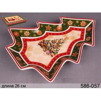 Блюдо новогоднее в форме елки (586-055)