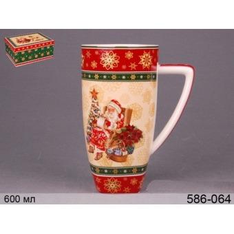 Кружка новогодняя Санта, 800 мл (586-060-1)