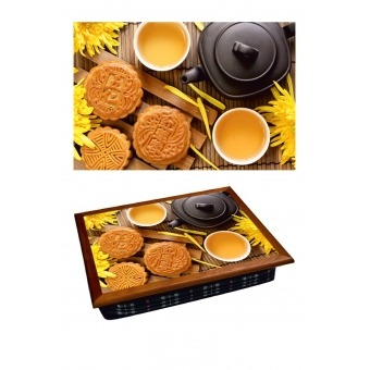 Поднос на подушке Чай с печеньем (2.71)