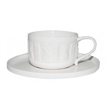 Чашка с блюдцем Плетеный орнамент (2023)