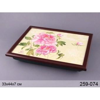 Поднос на подушке Цветы (259-074)