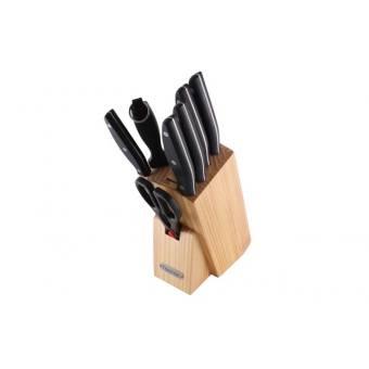Набор ножей FESTIVAL на деревянной подставке, 8 пр.