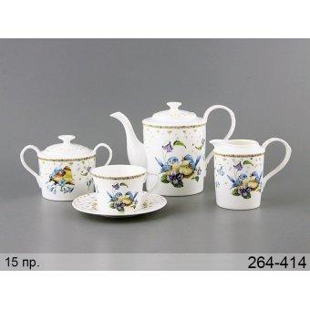 Чайный набор Птицы, 15 пр. (264-414)