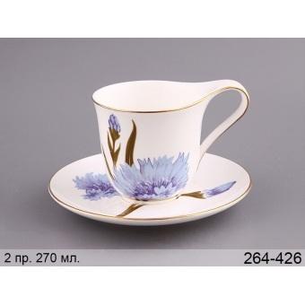 Чашка с блюдцем Василек (264-426)