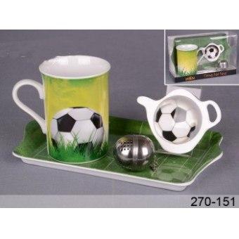 Чайный набор Футбол, 4 пр. (270-151)