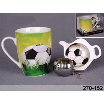 Чайный набор Футбол, 3 пр. (270-152)