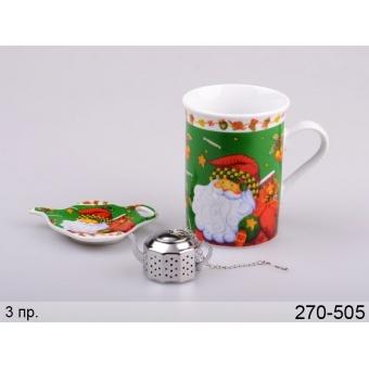 Чашка фильтром для заваривания новый год, 3 пр. (270-505)