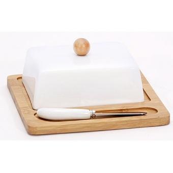 Масленка Naturel на бамбуковой подставке с ножом (289-184)