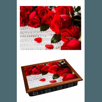 Поднос на подушке Алые розы (2.9)