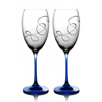 Набор бокалов для вина Grandioso Compliment кобальт, 2 шт. ( 31-02-450-2-090)