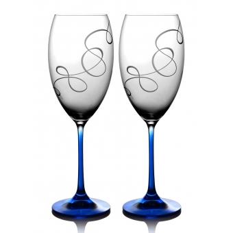 Набор бокалов для вина Grandioso Compliment кобальт, 2 шт. ( 31-02-600-2-090)
