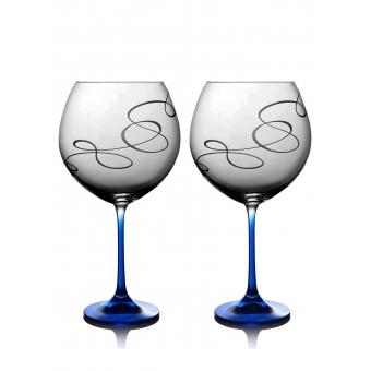 Набор бокалов для вина Grandioso Compliment кобальт, 2 шт. (31-02-710-2-090)
