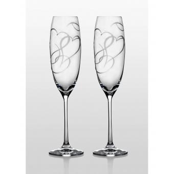 Grandioso набор бокалов для шампанского (Amour Swarovski) (31-03-230-2-053)