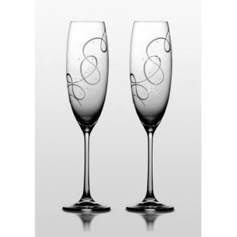 Бокалы для шампанского Grandioso Compliment Swarovski, 2 шт.