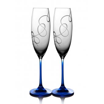 Бокалы для шампанского Grandioso Compliment кобальт, 2 шт. (31-03-230-2-090)