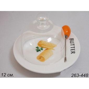 Масленка со стеклянной крышкой