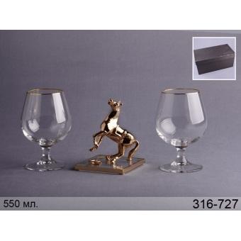 Набор бокалов для коньяка с фигуркой Лошадь (316-727)