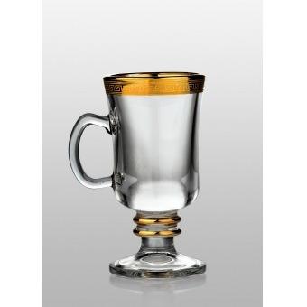 Набор бокалов для глинтвейна Venezia Kostka золото, 2 шт. (35-18-250-2-001)