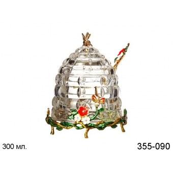 Банка для меда с ложкой (355-090)