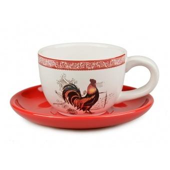 Чашка с блюдцем Петушок (358-705)