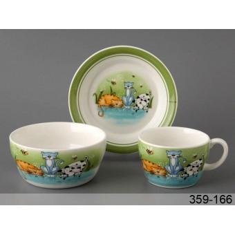 Детский набор посуды Веселые котята