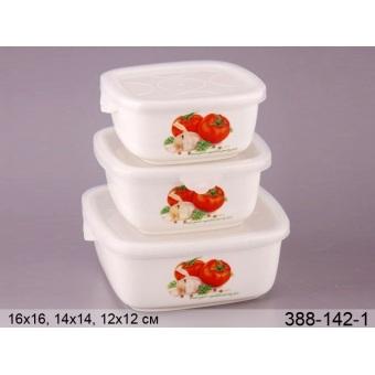 Набор емкостей для хранения томаты с крышками, 3 шт. (388-142-1)