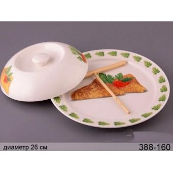 Блюдо для блинов с крышкой и лопаткой (388-160)