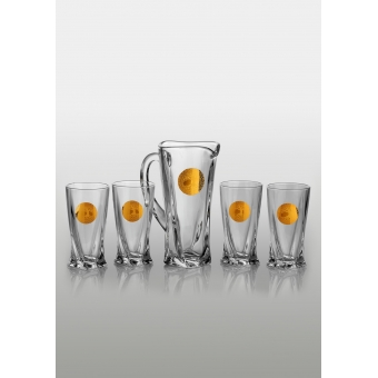 Quadro набор для напитков (Edem золото) 4+1 шт.