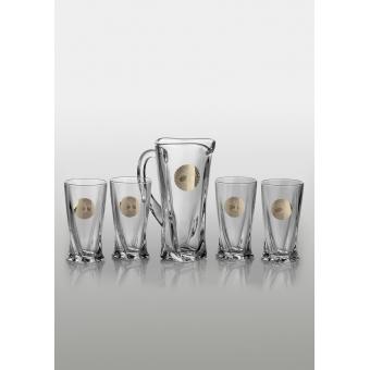 Quadro набор для напитков (Edem платина) 4+1 шт.