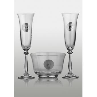 Angela набор для шампанского (Edem платина) 2+1 (44-03-064)