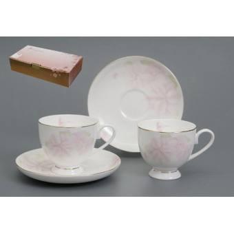 Чайный сервиз Розовый цветок (440-006)