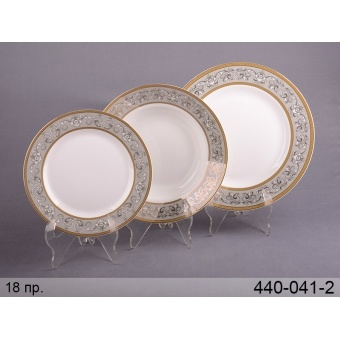 Набор тарелок бархат, 18 пр. (440-041-2)